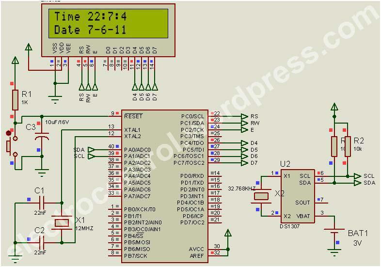 Jam digital menggunakan rtc ds1307 dengan codevision avr blog ini dengan menggunakan ccuart Image collections